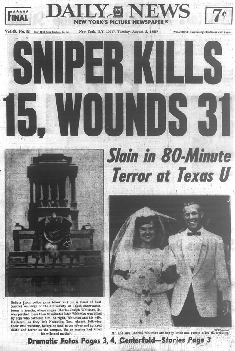 the story of charles whitman Gun violence and mental health laws,  that's when student charles whitman stuck his rifle over the  this story is part of a partnership with npr,.