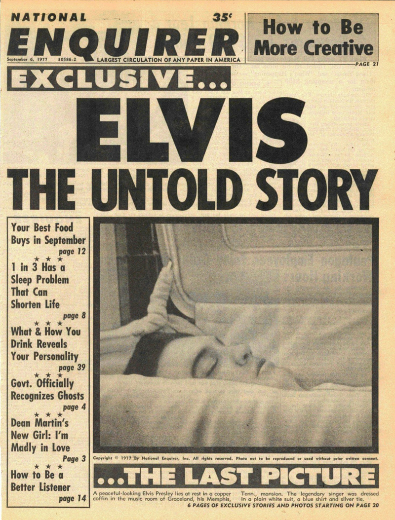 Elvis Presley Coffin P...
