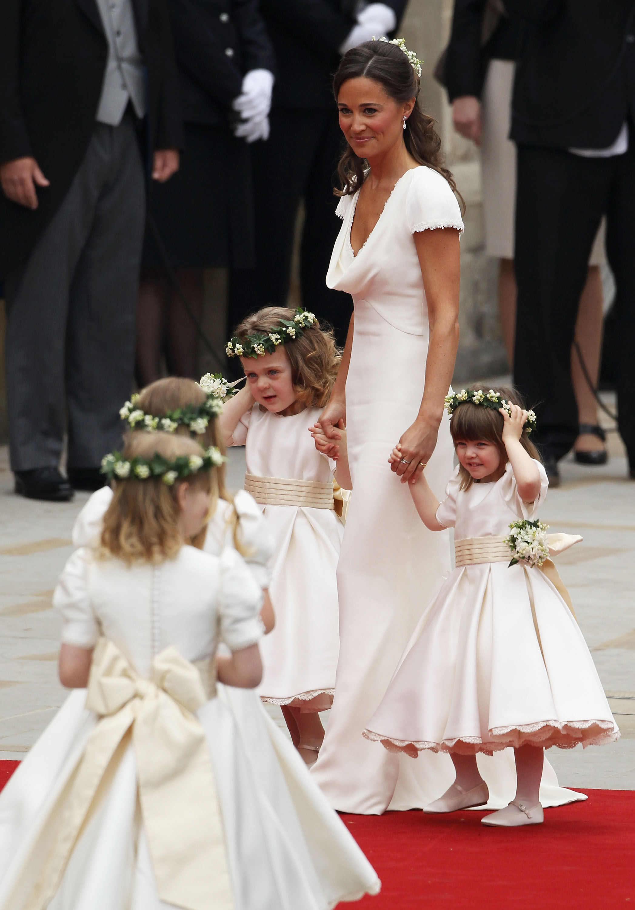 Maid of Honor, Kate's sister, Pippa Middleton and flower girls