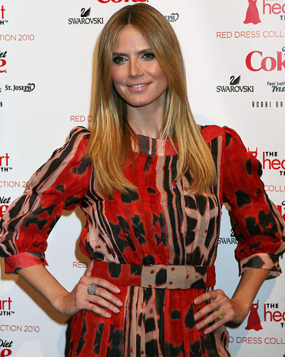 Heidi Klum at The Heart Truth's Red Dress Collection 2010