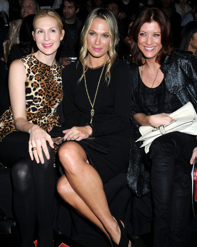 Kelly Rutherford, Molly Sims and Kate Walsh at the Ecco Domani show