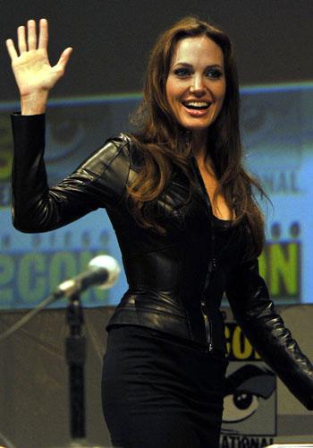 Angelina Jolie promotes <i>Salt</i>