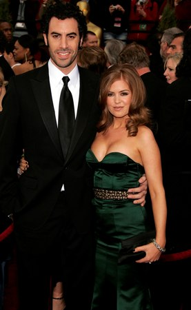 Sasha Baron Cohen and Fiancee Isla Fisher