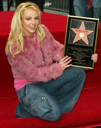 On November 17, 2003, Britney received a star on the Hollywood walk of fame.