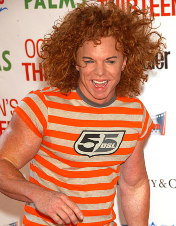 Carrot Top might want to think about changing his name to Brillo Pad.