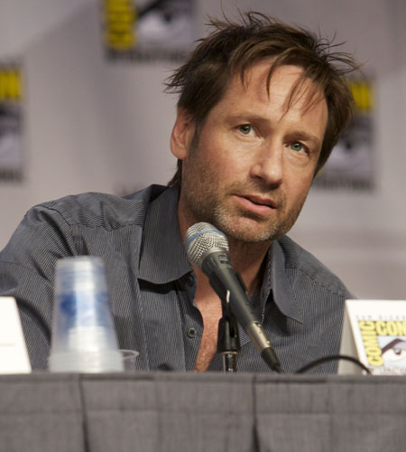 David Duchovny speaks at Showtime's Anti-Heroes panel discussion