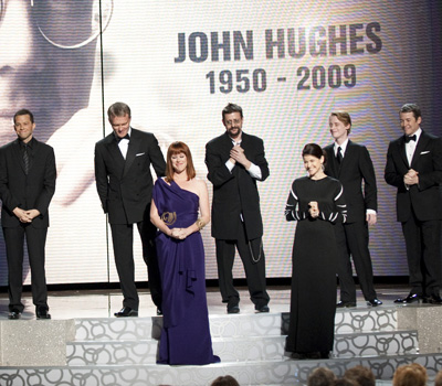 Jon Cryer, Anthony Michael Hall, Molly Ringwald, Judd Nelson, Ally Sheedy, Macaulay Culkin, and Matthew Broderick pay tribute to John Hughes