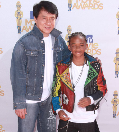 Jackie Chan and Jaiden Smith