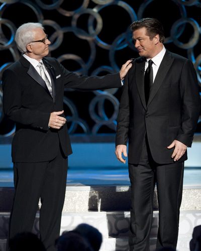Hosts Steve Martin and Alec Baldwin