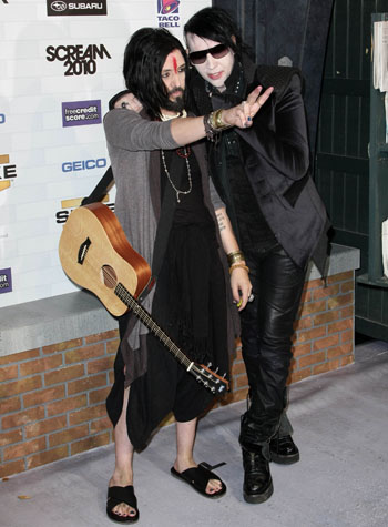 Twiggy Ramirez and Marilyn Manson