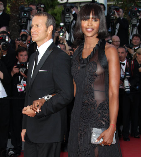 Naomi Campbell and Vladislav Doronin at <i>Wall Street</i> premiere