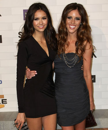 Nina Dobrev and Kayla Ewell