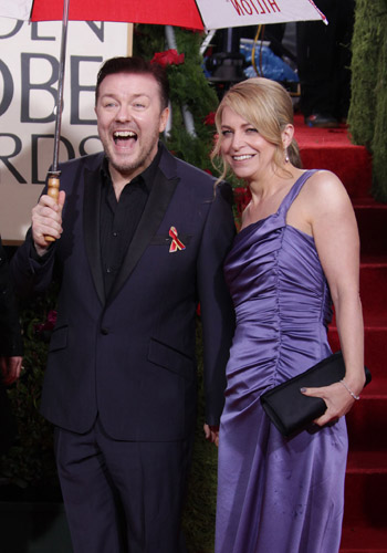 Ricky Gervais and wife