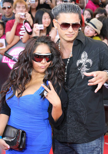 Nicole 'Snooki' Polizzi and Paul 'DJ Pauly D' Delvecchio