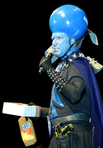 Will Ferrell gets in costume to promote <i>Megamind</i>