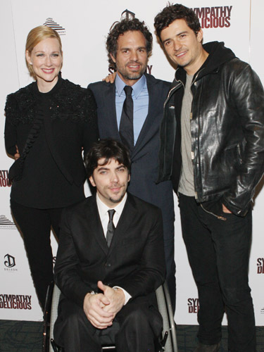 Laura Linney, Mark Ruffalo, Orlando Bloom, and Christopher Thorton at a screening of <I>Sympathy for Delicious</I>