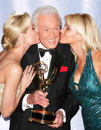 BOB BARKER got a kiss from some Barker's Beauties