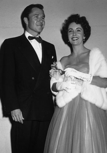 "Elizabeth Taylor with husband #1, hotel heir Conrad ""Nicky"" Hilton."