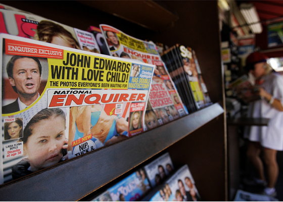 How The NATIONAL ENQUIRER broke the JOHN EDWARDS love child scandal and was nominated for the Pulitzer Prize.