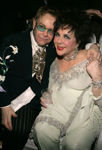 Elizabeth dedicated herself to working with Elton John on his AIDS Foundation.