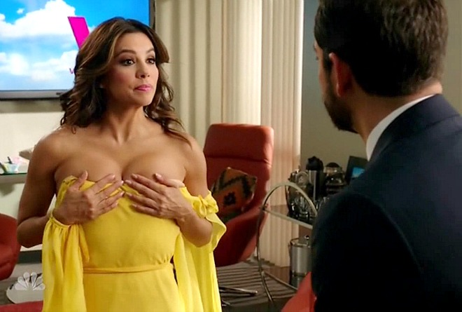 ... Busts Out Cleavage For 'Telenovela' Sneak Peek — Shocking Pics