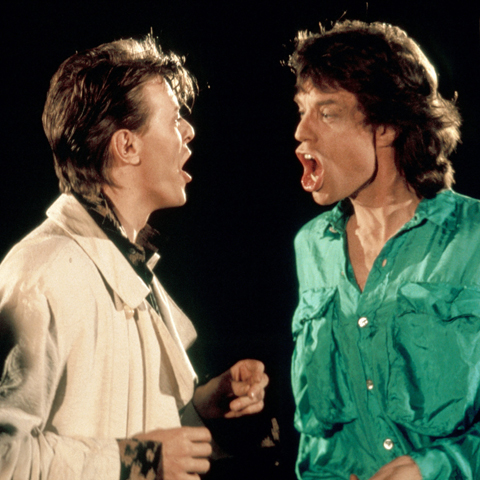 2. David Bowie and Mick Jagger had a fling