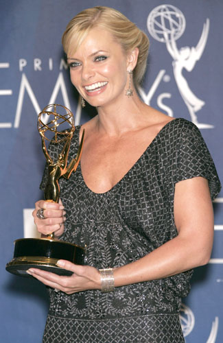 Jaime Pressly, winner for Outstanding Supporting Actress in a Comedy Series, in the pressroom at the 59th annual Primetime Emmy Awards.