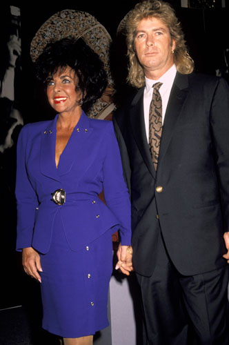 Elizabeth Taylor with husband #8 Larry Fortensky.