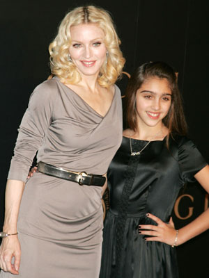 MADONNA and LOURDES LEON at 'A Night To Benefit Raising Malawi and Unicef.'