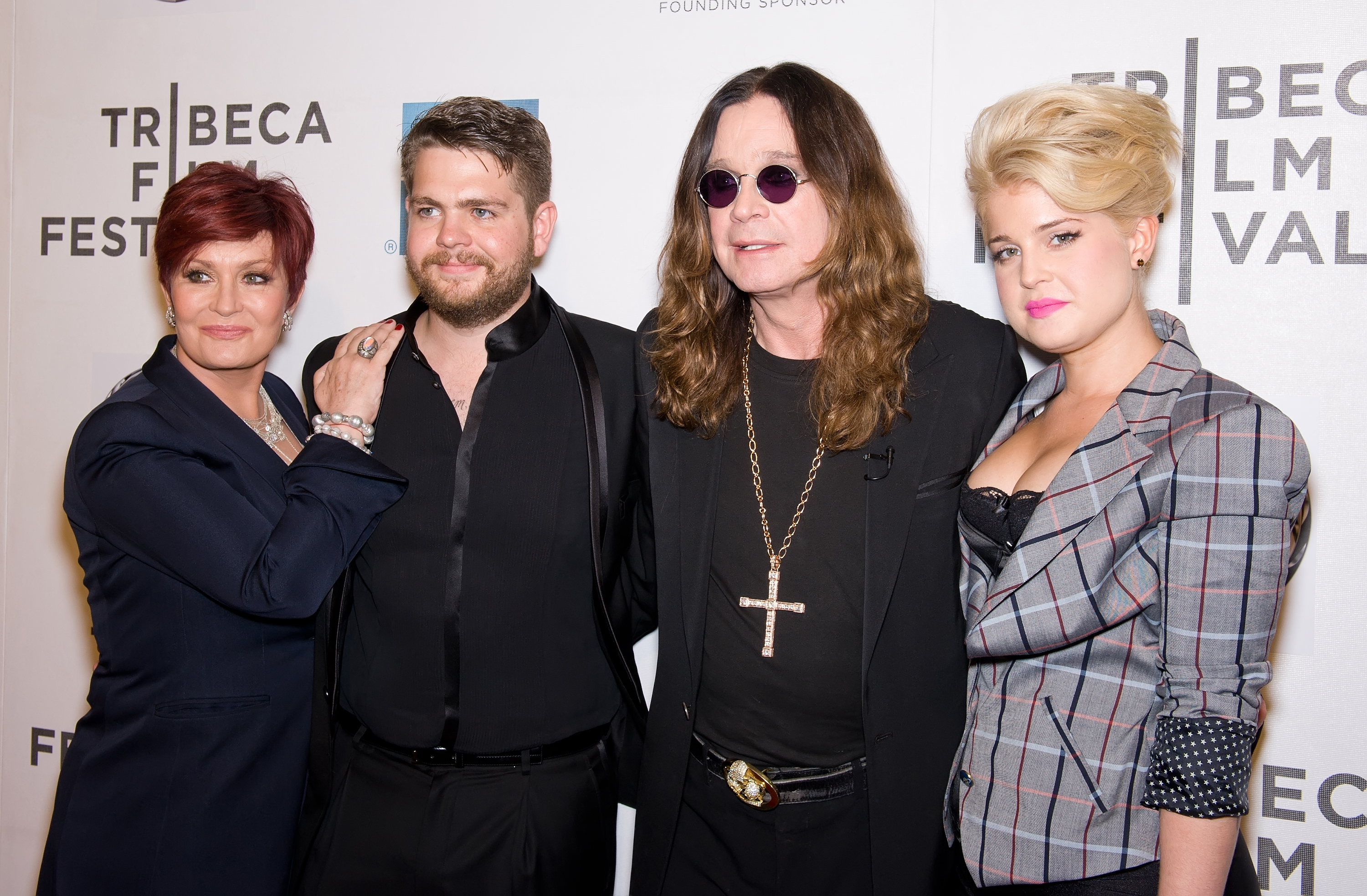 Sharon, Jack, Ozzy and Kelly Osbourne at the premiere of <i>God Bless Ozzy Osbourne</i>.