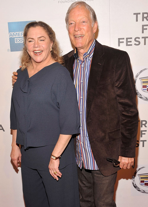 Kathleen Turner and Richard Chamberlain at the premiere of <i>The Perfect Family</i>.