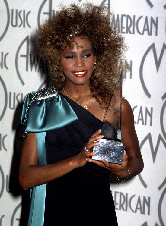 Whitney at the American Music Awards in 1986