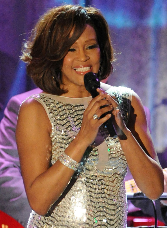 Whitney performing at the 2011 Pre-Grammy Gala