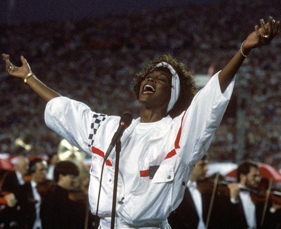 Singing the National Anthem at the Super Bowl in 1991
