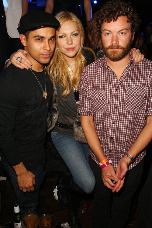 <I>That '70s Show</I> costars Wilmer Valderama, Laura Prepon <br>and Danny Masterson at T-Mobile Presents Google Music at Tao.